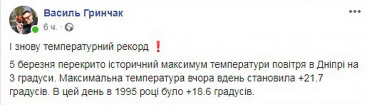 Дніпро встановило новий рекорд