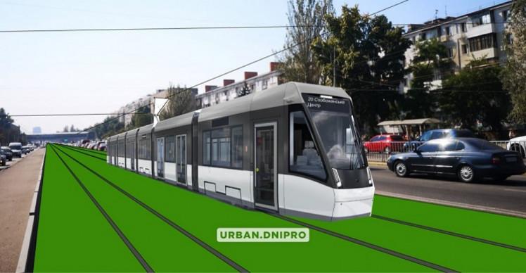 Візуалізація трамвайної лінії на Слобожанському проспекті